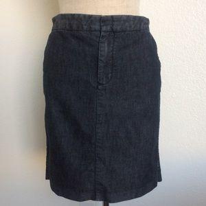Gap Dark Denim Pencil Skirt